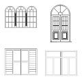 Blocos com portas, janelas, basculante, veneziana, porta-janela e outros.