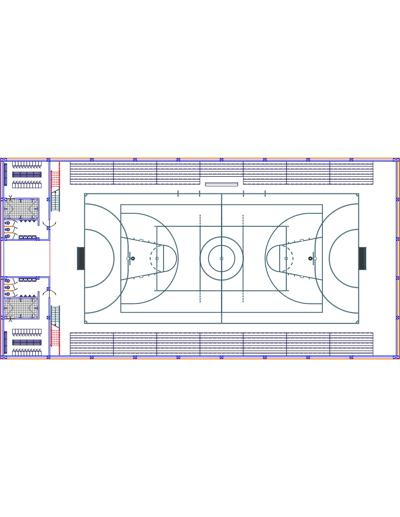 dbdeb08944 Quadras poliesportivas cobertas com ambientes de apoio