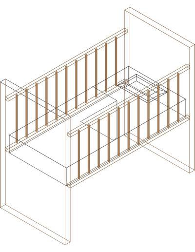 Bloco com ber o em 3d blocos 3d detalhes do bloco dwg for Cama 3d autocad