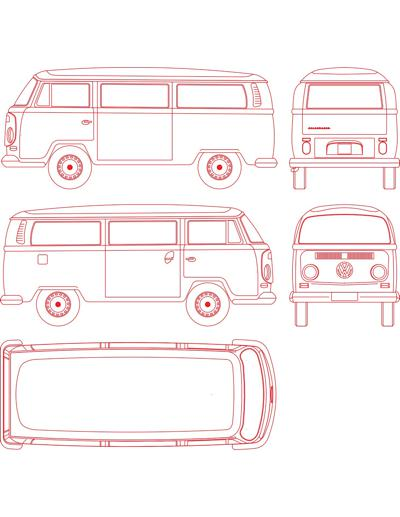 Volkswagen Kombi Utilitario Em Vistas Laterais Frontal Re E